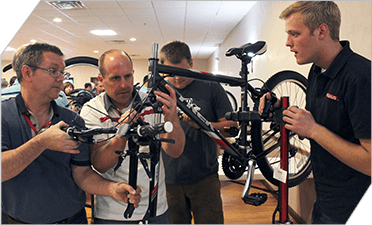 Plexus employees assembled bicycles that were donated to a local Boys and Girls' Brigade